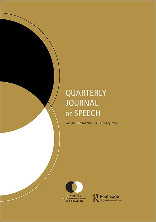 A cover of the rhetoric journal Quarterly Journal of Speech